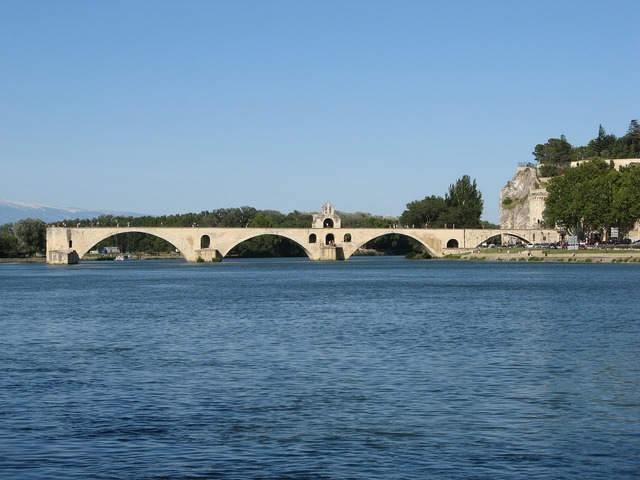 Bridge of avignon heritage monument, architecture buildings.