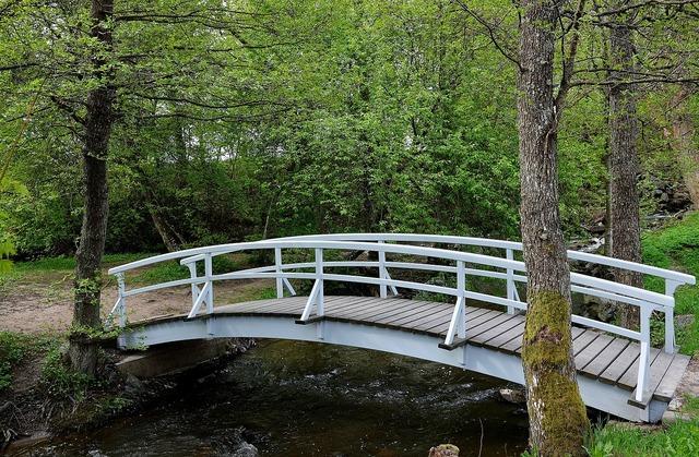 Bridge old bridge bridges, nature landscapes.