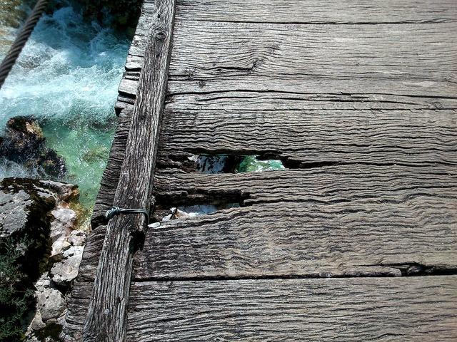 Bridge old wood river.