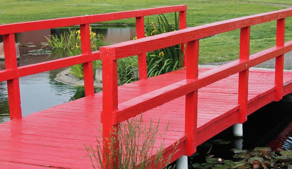 Bridge pond bridge lake bridge.