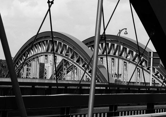 Bridge river channel, science technology.