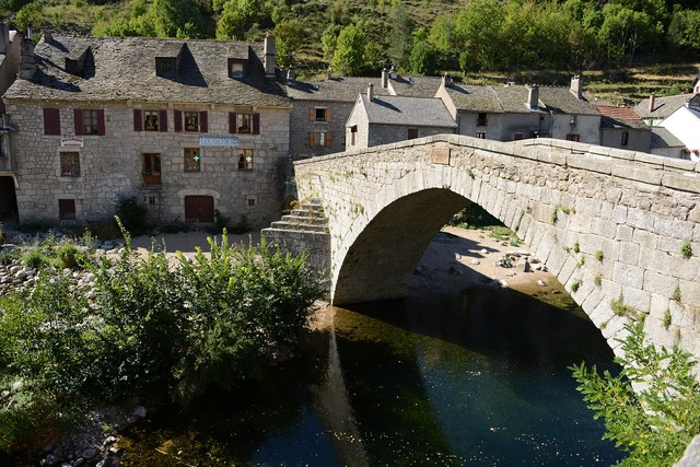 Bridge river old town.