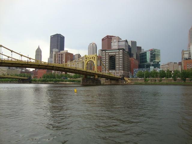 Bridge river view from the pnc park.