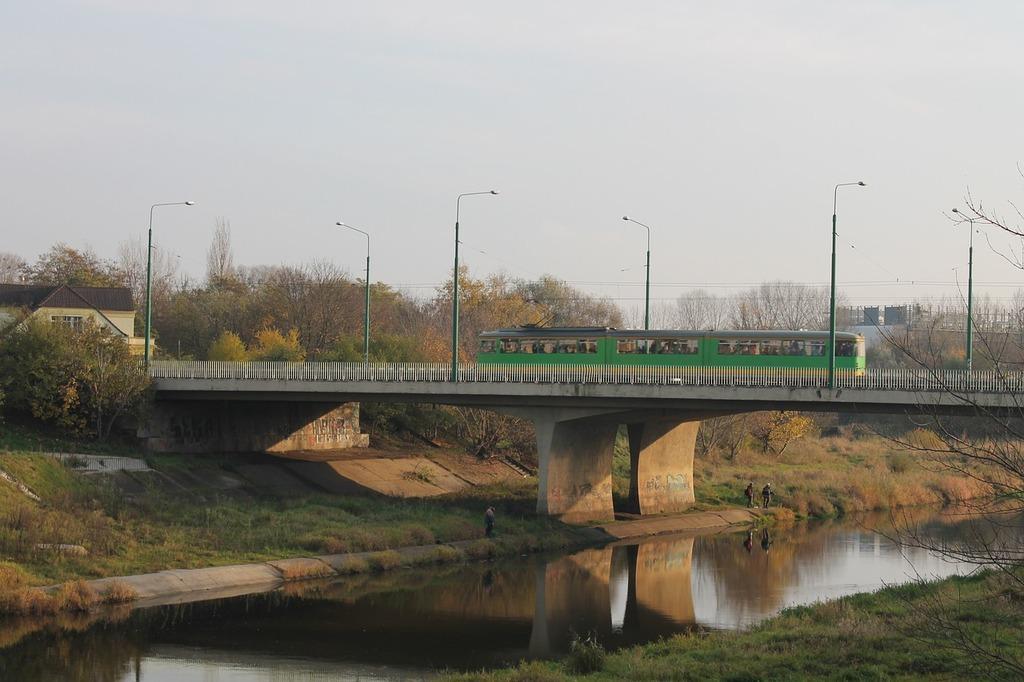 Bridge river warta river.