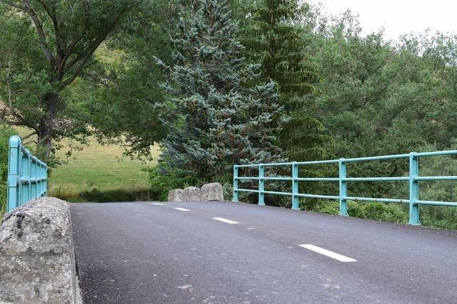 Bridge road fence, transportation traffic.
