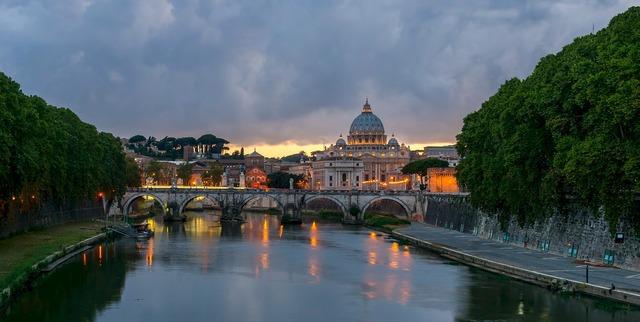 Bridge sant' angelo rome, architecture buildings.