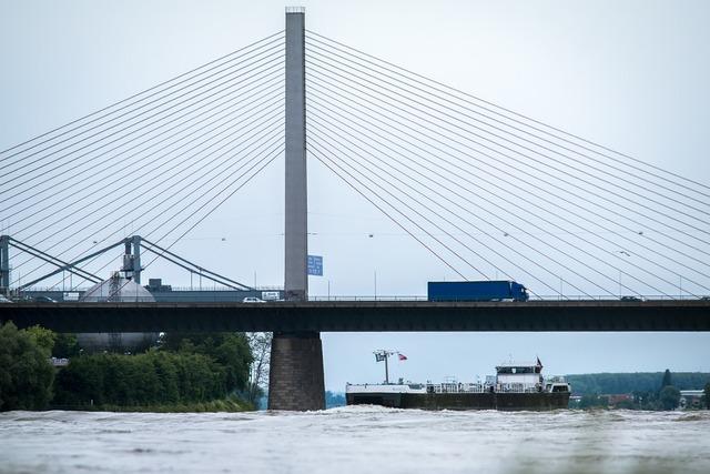 Bridge ship river, transportation traffic.