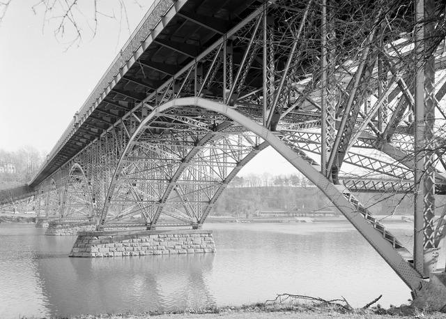 Bridge steel arch, places monuments.