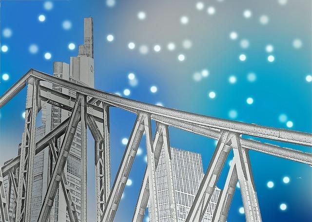 Bridge steel bridge architecture, architecture buildings.