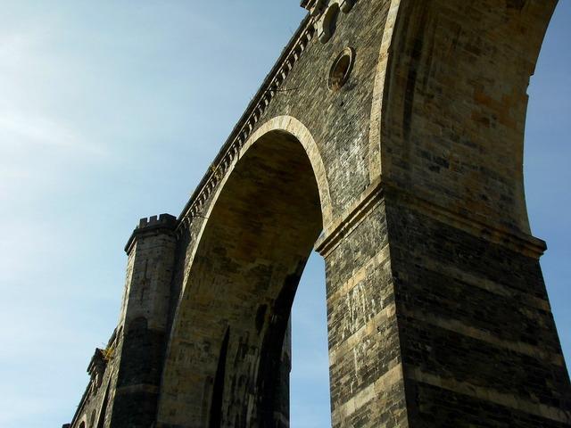Bridge stone arch bridge railway bridge, architecture buildings.