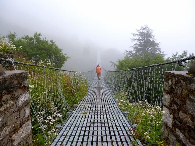 Bridge suspension bridge trekking.