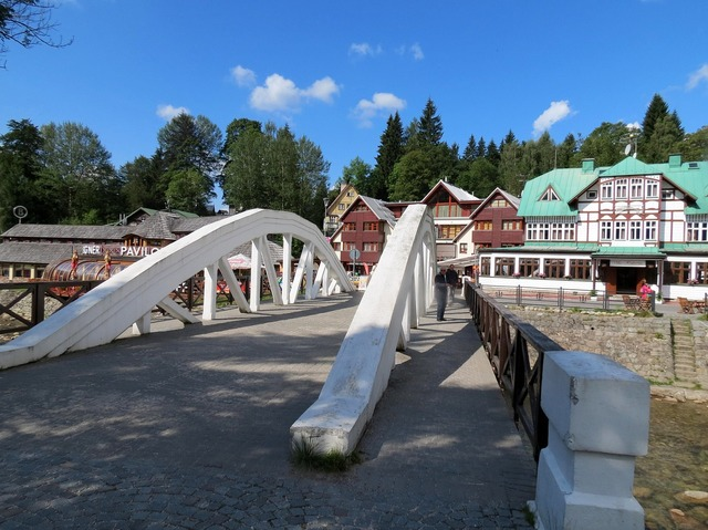Bridge the giant mountains spindleruv mlyn, architecture buildings.