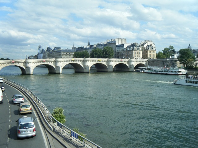 Bridge the river seine paris, travel vacation.