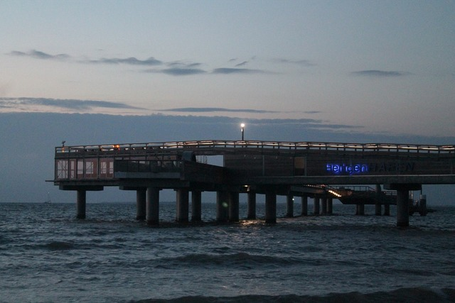 Bridge twilight dusk, nature landscapes.