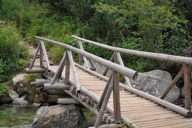 Bridge wooden river.