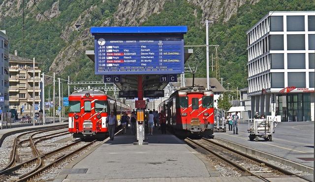 Brig station forecourt vineyard station.