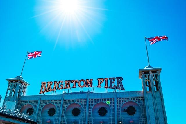 Brighton england sky, travel vacation.