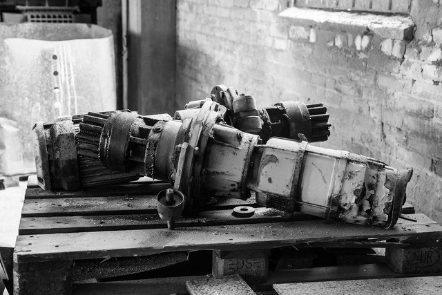 Broken industrial items decay abandoned tools, architecture buildings.