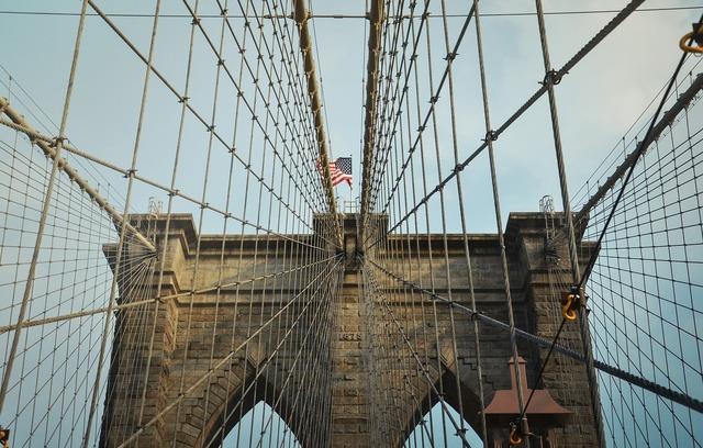 Brooklyn bridge bridge suspension bridge.