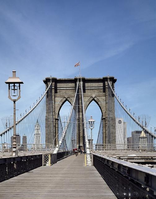 Brooklyn bridge new york manhattan, architecture buildings.