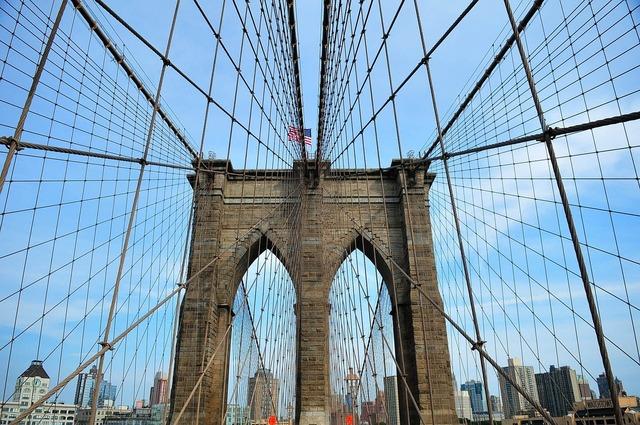 Brooklyn bridge new york new york city, architecture buildings.