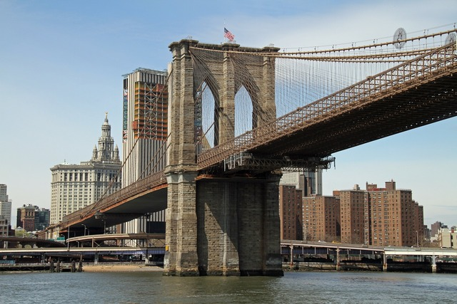 Brooklyn bridge river manhattan, places monuments.