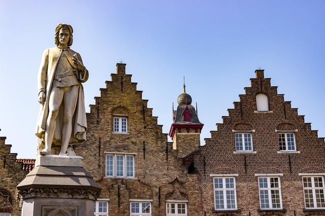 Bruges belgium facade.