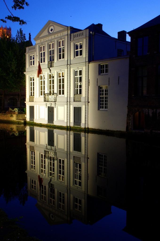 Bruges night architecture, architecture buildings.