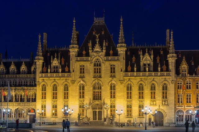 Bruges provinciaal hof town hall, architecture buildings.
