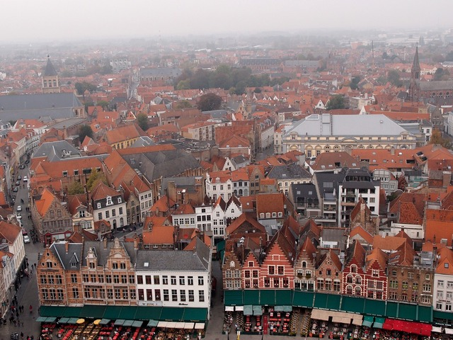 Bruges the medieval city old town, architecture buildings.