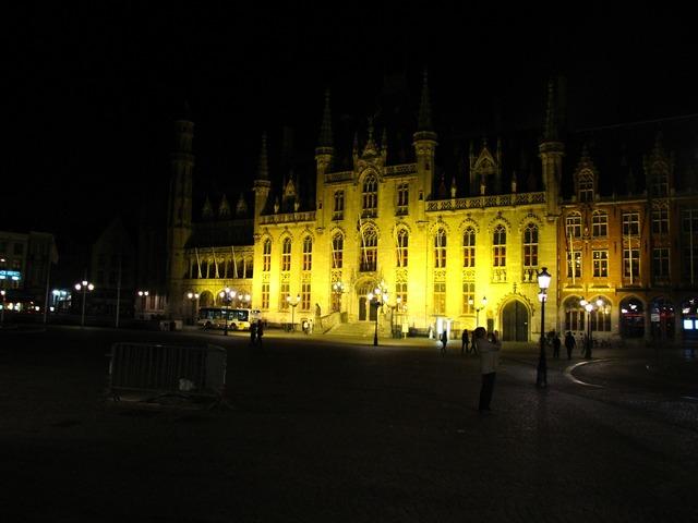 Bruges town hall market.