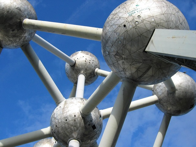Brussels atomium steel, architecture buildings.