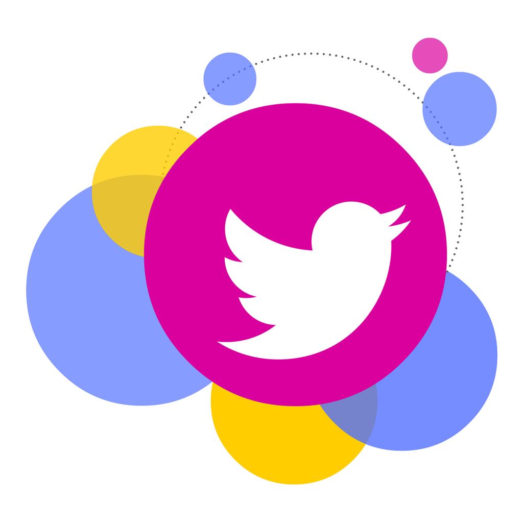 Bubbles icon twitter, computer communication.