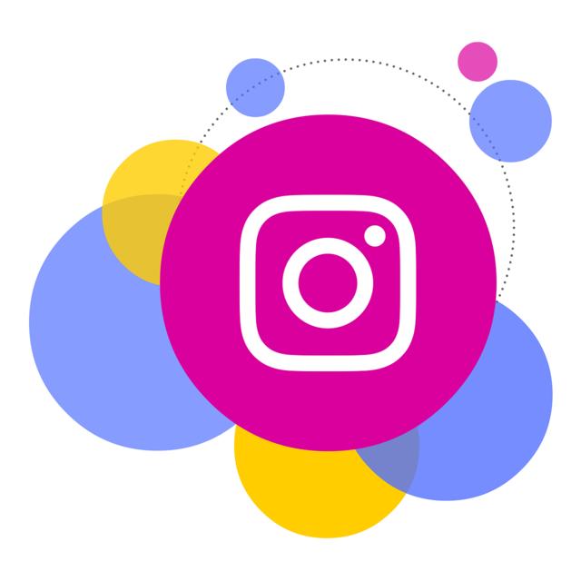 Bubbles instagram social network, computer communication.