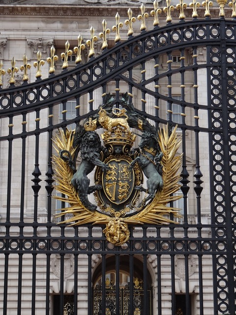Buckingham palace coat of arms goal.