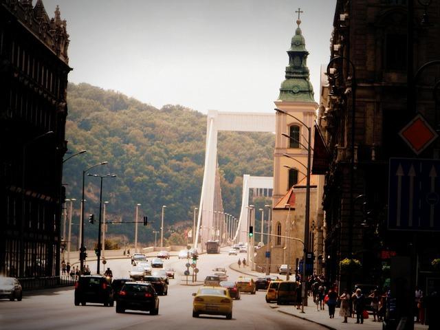 Budapest bridge building, architecture buildings.