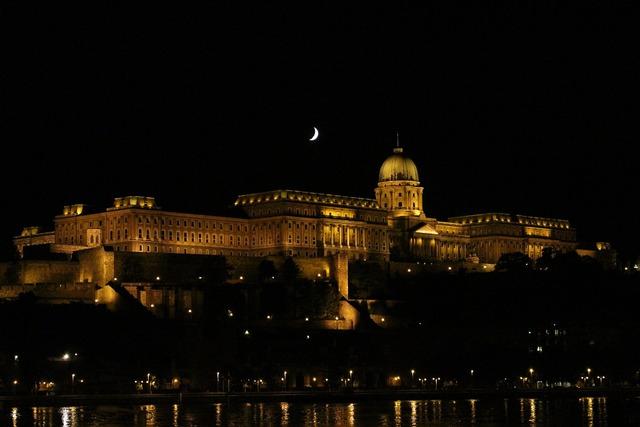 Budapest night castle.