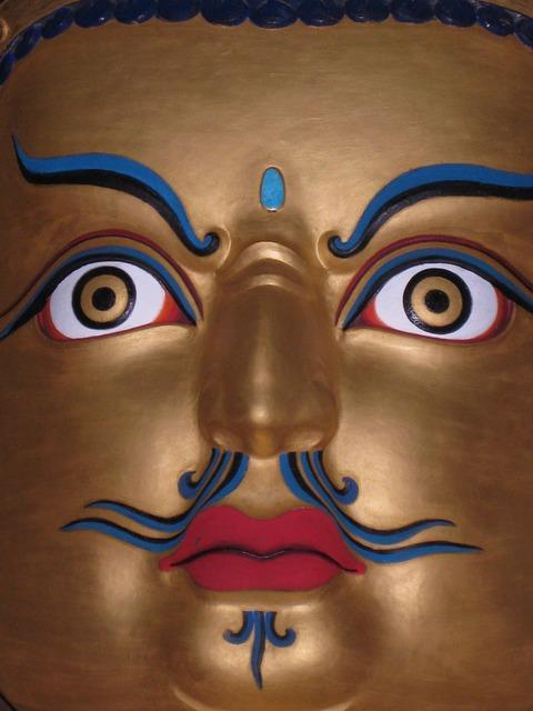 Buddha face tibet, religion.