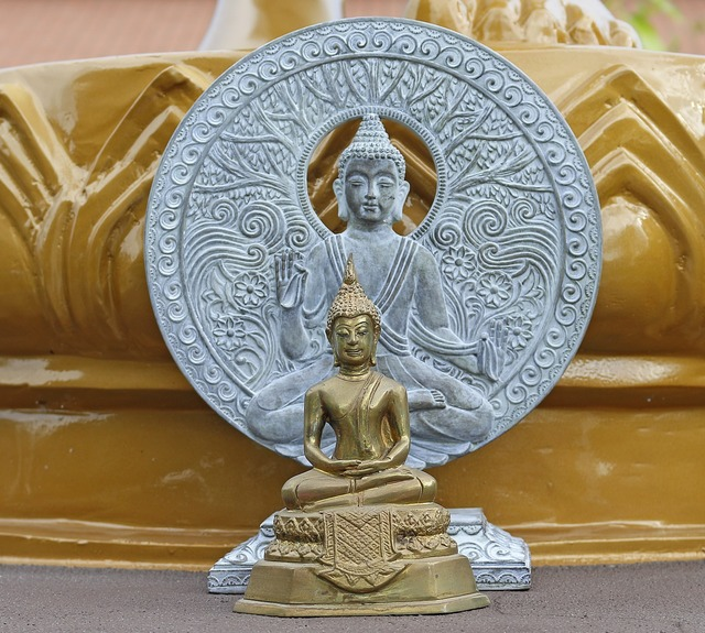 Buddha figure chua phat phap buddhist temple saint petersburg.