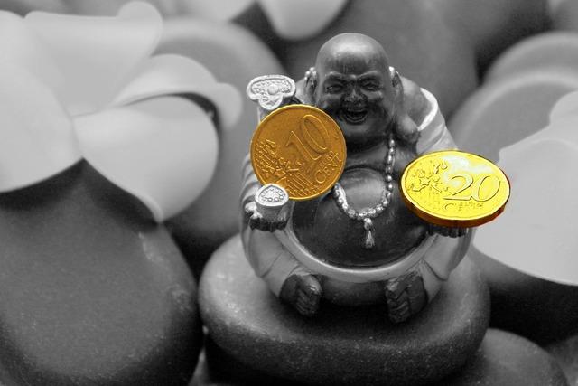 Buddha statue money, religion.