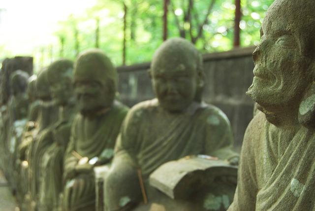 Buddha statue stone statues think about.