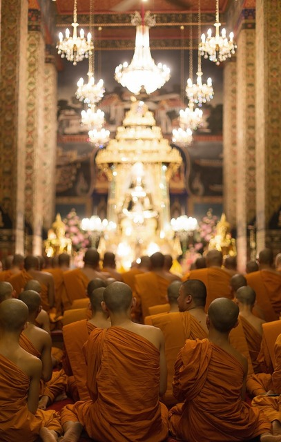 Buddhism temple monks, religion.