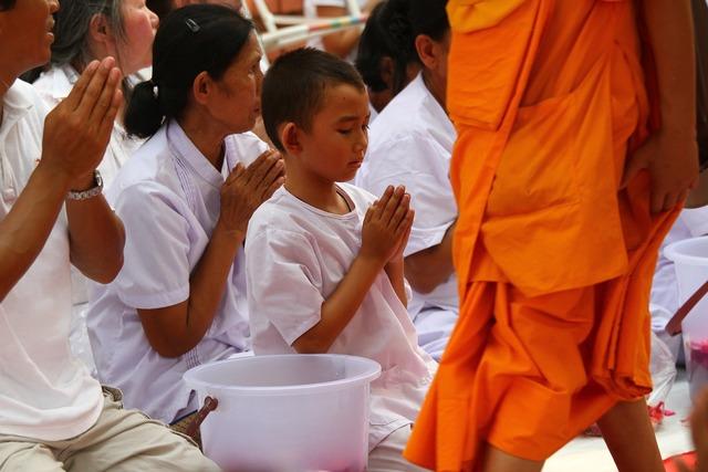 Buddhists monks meditate, religion.