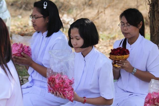 Buddhists women female, religion.