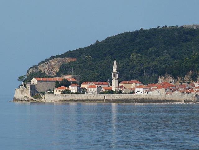 Budva montenegro old town, nature landscapes.