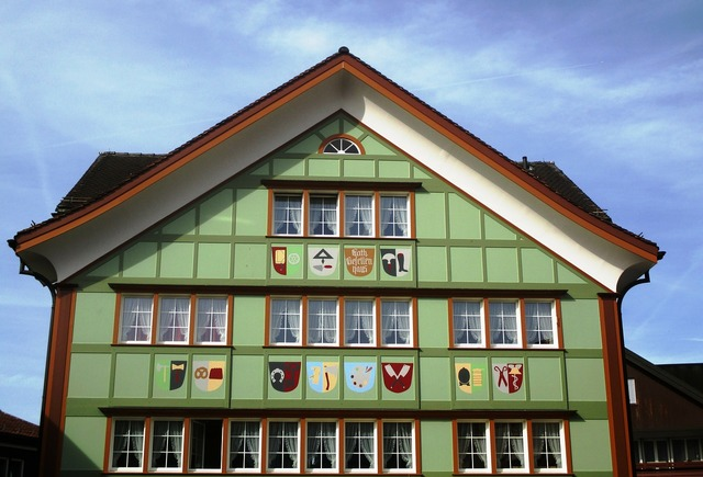 Building appenzell house typical, architecture buildings.