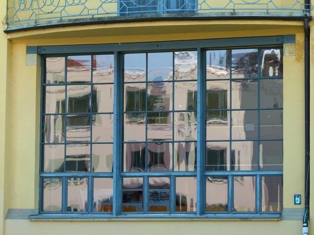 Building bauhaus style window, architecture buildings.
