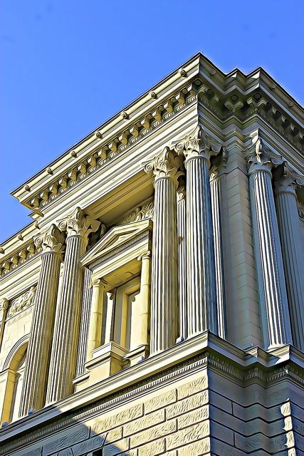 Building blue sky architecture, architecture buildings.