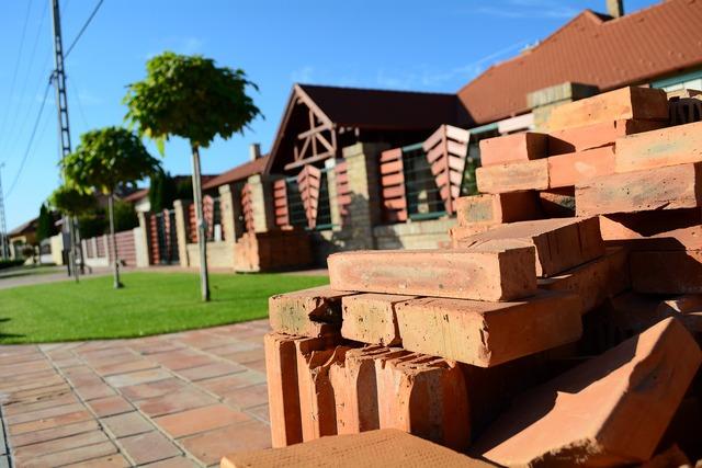 Building bricks construction, architecture buildings.
