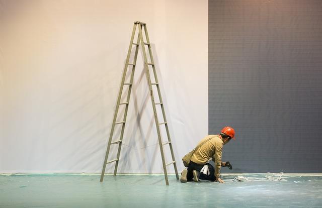 Building decoration worker, architecture buildings.